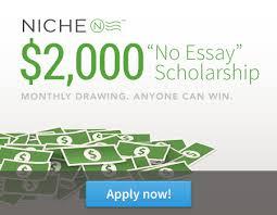 """Niche """"No Essay"""" Scholarship"""
