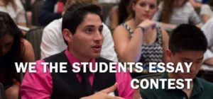 We the Students Essay Contest