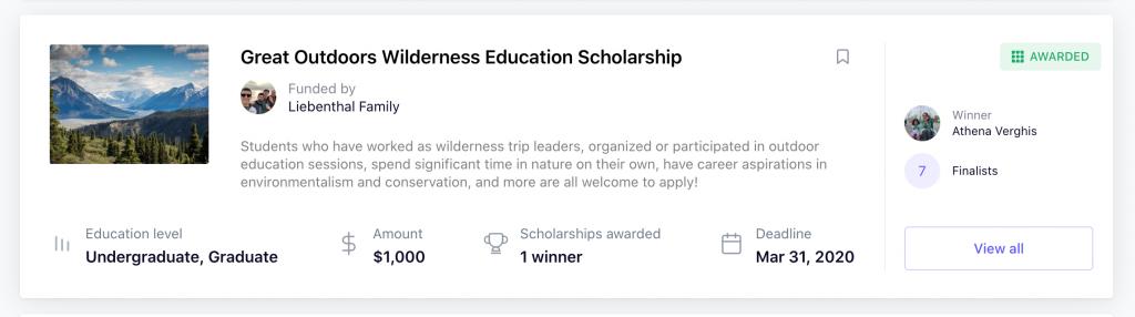 bold scholarship