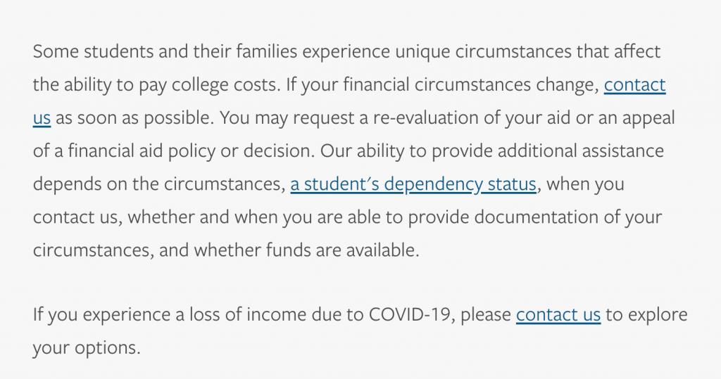 more financial aid