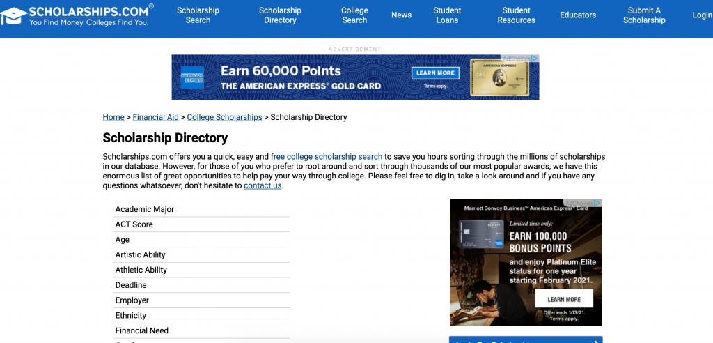 scholarships.com review