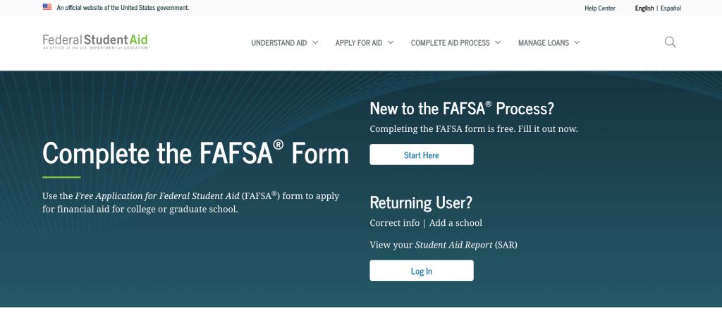 screenshot-of-fafsa-website-homescreen