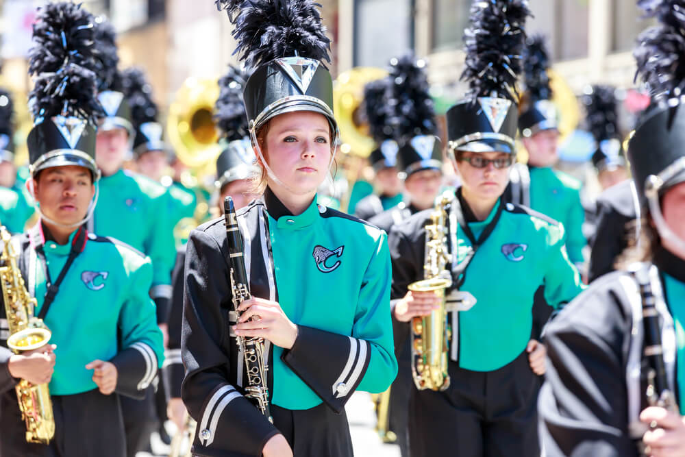 Marching band students who are are eligible for marching band scholarships